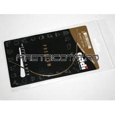 Andrele circulare addi, 20 cm- alama, finisaj argintiu, cablu auriu 2,0 - 3,5